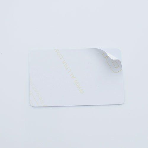 cartão adesivado em pvc