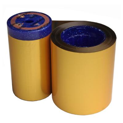 Ribbon monocromático ouro metálico