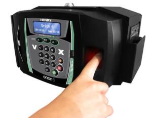 utilização do leitor de biometria