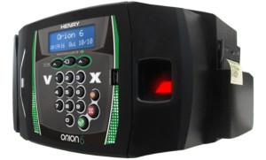 leitor de biometria e sinalização